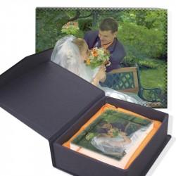 Кристал със снимка размер: 8x5x0.3cm