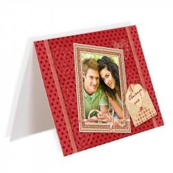 Картичка със снимка двойна 10х15 см