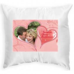 Възглавница с рамка розово сърце 1 33х33 см