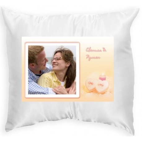 Pillow with frame two hearts 33x33 cm - SnimkiteVi