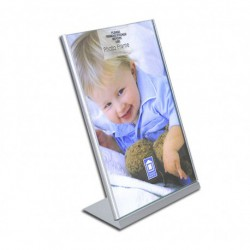 Silver frame stand format 10/15cm.