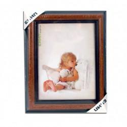 PVC frame (wood imitation) format 15/21 cm.