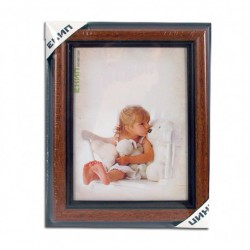 PVC frame (wood imitation) format 18/24 cm.