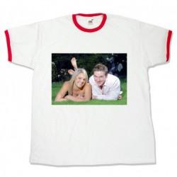 Тениска с червени биета размери S.M. L. XL. XXL