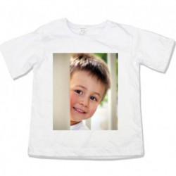 Детска тениска с къс ръкав със снимка отпред и отзад  размери 86,92,98,104,110,116,122,128,134