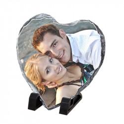 Декоративен камък сърце, размер-14.8см Х 14.8см