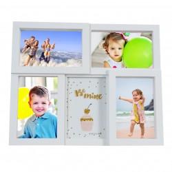 Frame for 5 photos format 10/15 cm