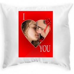 Възглавница с рамка I LOVE YOU 33х33 см