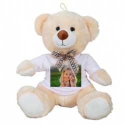 Bear 30 cm with photo on both sides